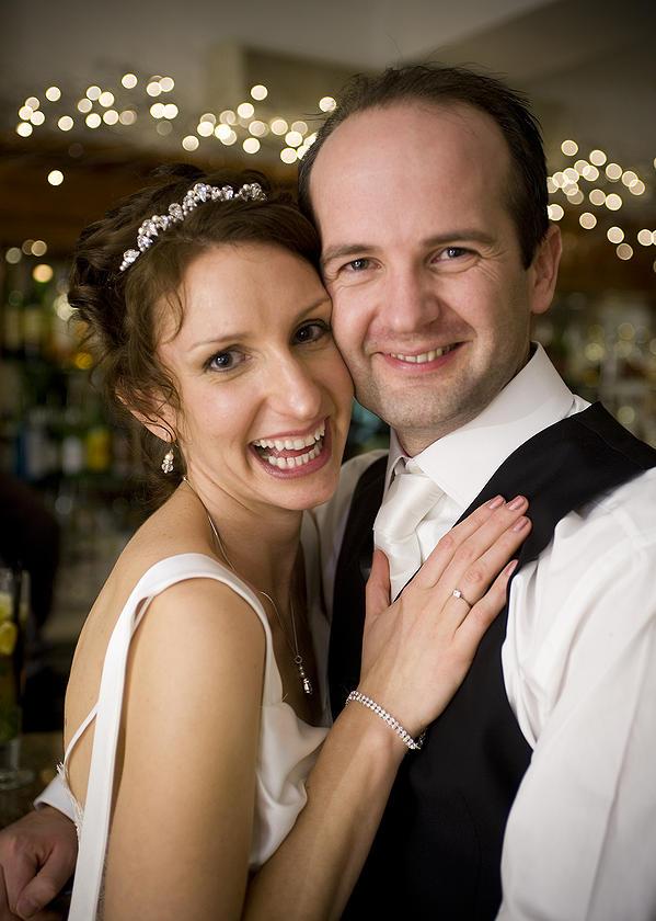 A wonderful wedding full of confident smiles.