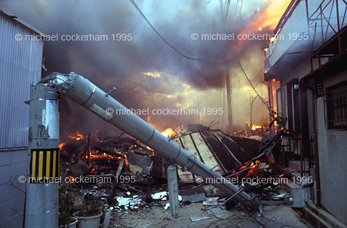 Fires consumed whole city blocks.