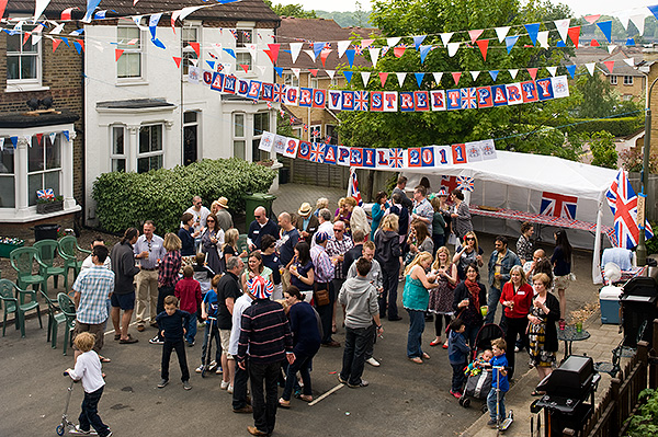 Camden Grove street party. April 29, 2011. Photo © Michael Cockerham