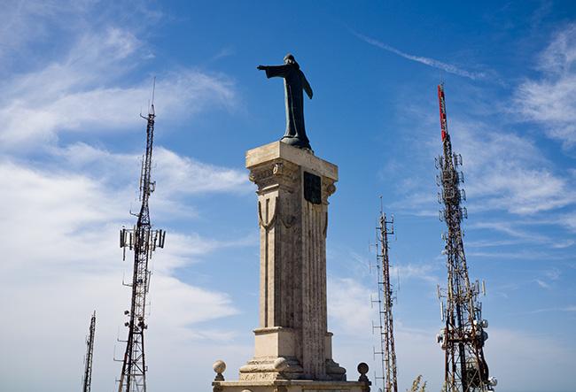 mass communication jesus and telecommunication masts