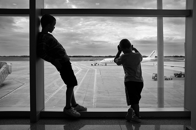Waiting for the flight home.
