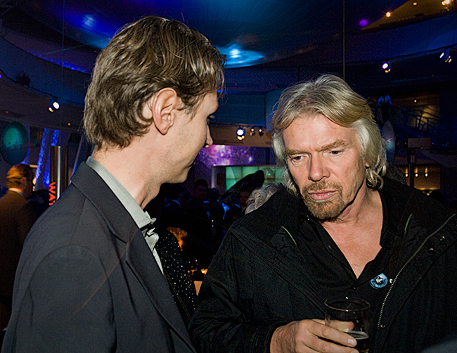 Richard Branson discusses Norther Rock with London-based banker Per Wimmer of Wimmer Finance