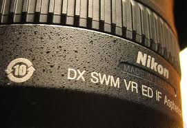 markings on Nikkor lens