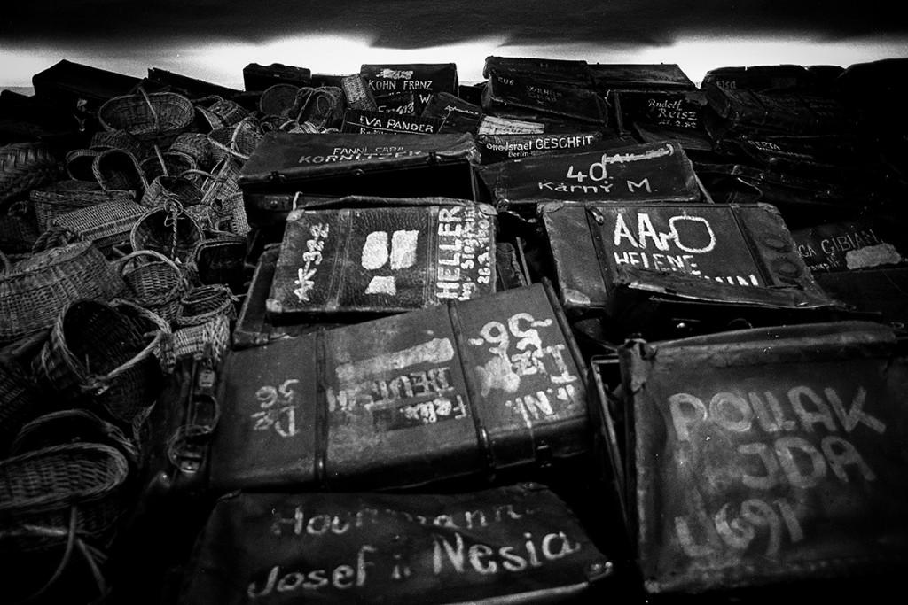 Suitcases of Auschwitz inmates. Photo: © Michael Cockerham 1993.