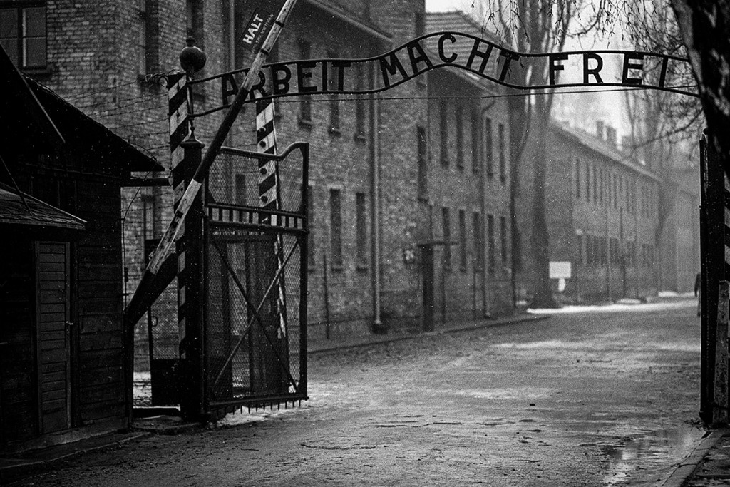 Work will set you free. The entrance to Auschwitz. Photo: © Michael Cockerham 1993.